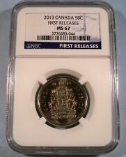 2013 CANADA 50c NGC MS67 HALF DOLLAR UNCIRCULATED MS 67