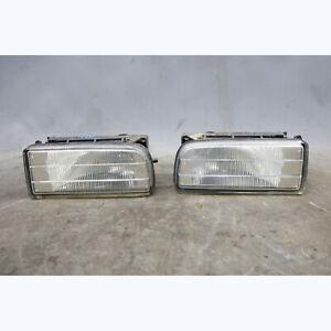1992-1999 BMW E36 3-Series Factory ZKW Clear Fog Light Pair w/ Brackets OEM