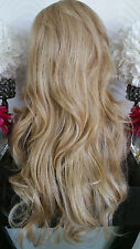 Beautiful Blonde Mix Lace Front Wig Long Wavy Heat Safe