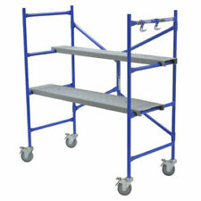 Werner 4' Portable Rolling Scaffolding Platform Adjustable Construction Painting