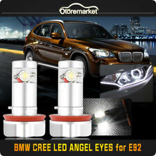CREE 6W H8 LED BMW Angel Eyes Halo Ring Marker Hid White Bulb For 1 3 5 X Series