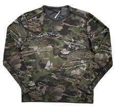 UNDER ARMOUR Mens Mid Season Reversible Wool Base Crew Hunting Shirt NWT 2XL