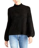 RACHEL Rachel Roy | Ribbed Turtleneck Sweater | Black