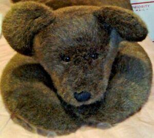 "Vintage Rare HTF Boyds Jumbo 40"" Teddy Bear Brown Rug stuffed animal toy"