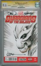 GUARDIANS OF THE GALAXY #1 BLANK CGC 9.6 SIGNATURE SERIES SIGNED x3 GROOT SKETCH