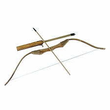 Wooden Bow with 3 Arrows and A Quiver Hallween Kids Archery Hunting Sporting Toy