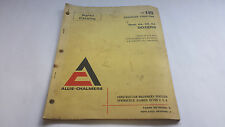 Allis-Chalmers Parts Catalog HD 16 Crawler Tractor 16HS, HA, CS, CA Dozers
