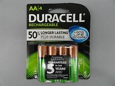 NEW Duracell 2500 mAh NiMH Rechargeable Long Life AA Batteries 4 Pack