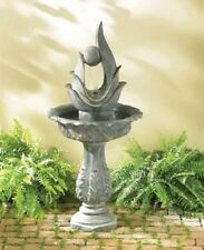 Modern Art Abstract Sculpture statue bird bath Outdoor Garden patio Fountain