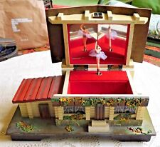 """VINTAGE 1960'S NORLEANS JAPAN WOODEN JEWELRY / MUSIC BOX - """"SOMEWHERE MY LOVE"""""""
