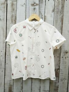 Daphnea Say Yes White Shirt - L / Was Selling At Anthropologie