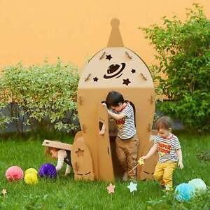 Cardboard Space Shuttle. Kids Spaceship Playhouse. Rocket playhouse