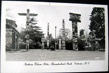 CANADA~1950's VICTORIA ~Thunderbird Park~INDIAN TOTEM POLES~Walker & Ward RPPC