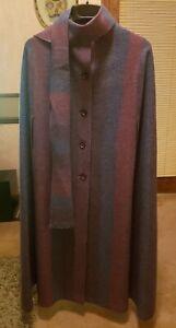 Women's Ireland Wool Cloak Cape w/ Scarf