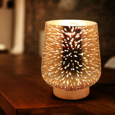 3D GLASS TABLE LAMP Nightlight Bedroom Party Restaurant Decor Gift Desk Lamp 001