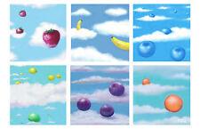 Contemporary Art - Falling Fruits thru Clouds - Giclee Print