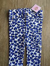 Juicy Couture Baby Girls Jeans With Blue Hearts Size 3/6 M