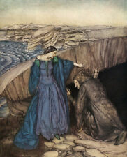 Arthur Rackham Clerk Colvill /& The Mermaid British Ballads 7x5 Inch Print