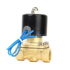 "24V DC 1/2"" Messing elektrisches Magnetventil Wasser Luft Brennstoffe Gas"