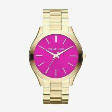 Michael Kors Slim Runway MK3264 Bright Pink Dial Wrist Watch