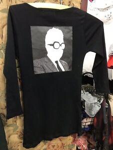 "Rare Black ""KARL LAGERFELD"" T-Shirt/Top, Size S"