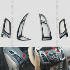 4x Carbon Fiber Color Air Vent Outlet Panel Cover Trim For Ford Focus 2011-2013
