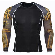 Compresión para Hombre bajo Base Capa Deporte Armadura Térmico Camisa