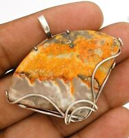NaturalBumble Bee Druzy 925 Solid Sterling Silver Pendant Jewelry, ED27-7