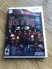 The House Of The Dead 2 & 3 Return Nintendo Wii Cib XP3