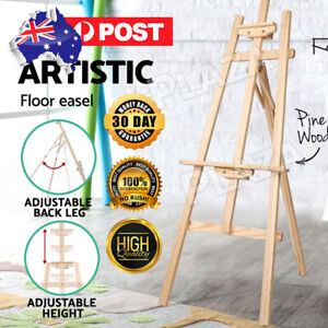 AUP Pine Wood Easel Artist Art Display Painting Shop Tripod Stand Wedding