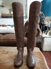 Tory Burch Simone Over the Knee Brown Suede Boots Size 6
