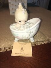 """New ListingPrecious Moments Figurines """"He Cleansed My Soul�"""