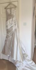 La Sposa Fanal Oyster Size 10 Wedding Dress Brand New with Tags Never Worn