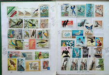 Birds worldwide collection of 440 diff  mint used 20 cards