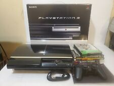 Sony PlayStation 3 PS3 60GB Console System Fat Backwards Compatible Box 5 Games