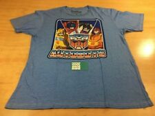 Transformers Autobots Optimus Prime Bumblebee Short Sleeve Tee Shirt Blue XL
