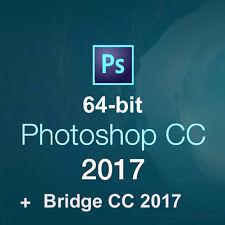 Adobe Photoshop CC 2017 64bit,Adobe Bridge CC 2017 64bit.Full version.DVD disc