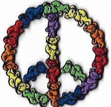 Grateful Dead Dancing Bears Peace Sign Patch / Iron On Applique