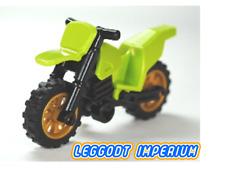 LEGO Motorcycle - Lime - black frame gold wheels full assembly bike FREE POST
