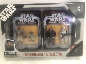 Star Wars 2006 COMMEMORATIVE TIN COLLECTION ROTS WINDU YODA SKYWALKER DRIVER NIP