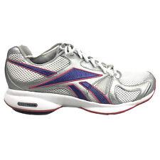 Reebok Easytone Shoes Womens Size 9 Gray Purple White Walking Toning Sneakers