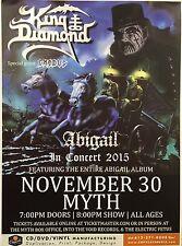 King Diamond Concert Poster Minneapolis MN 11x15 2015