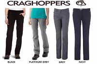 CRAGHOPPERS LADIES KIWI PRO STRETCH TROUSERS BLACK GREY NAVY WALKING  CWJ1072