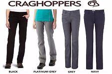 CRAGHOPPERS LADIES KIWI PRO STRETCH TROUSERS BLACK GREY NAVY WALKING  CWJ1072