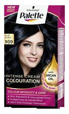 Schwarzkopf Palette Colours 909 Blue Black Intense Cream Hair Coulouring Dye x1