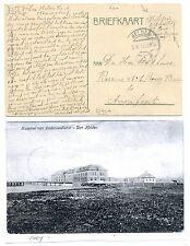 NEDERLAND ONDERZEEBOOT 1916 AK KAZERNE ONDERZEE DIENST   SUBMARINE + DOC  F/VF