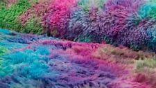 Kunstfell bunt Plüschstoff mehrfarbig pink türkis lila mehrfarbiges Kunstfell