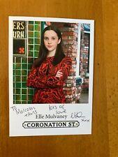 More details for elle mulvaney ,,  coronation street,, dedicated  cast  card,,