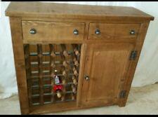 Real Solid Wood WINE RACK SIDEBOARD cupboard Rustic Plank Pine indigo Furniture