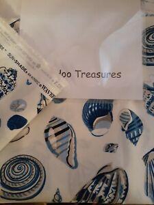 1 3/8 Yard WAVERLY Sun N Shade Low Tide beach seashell  Fabric